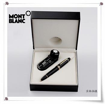 材质:黑色天然树脂,18k笔尖双色,f尖,环饰镀铂金! 传奇性的