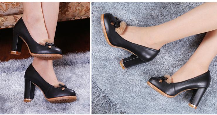 卡尔丽娜2013新款女鞋春款单鞋头层牛皮圆头牛筋底撞