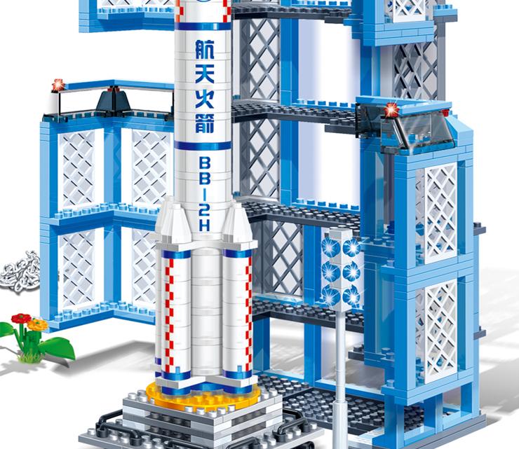 儿童益智积木拼插玩具6401拼插航天飞机