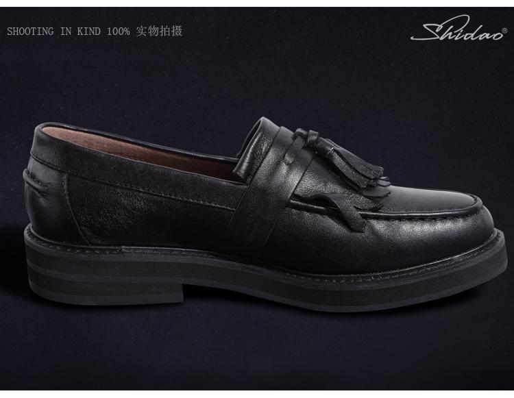 支持货到付款】新款圆头男士韩版松糕鞋厚底英伦皮鞋