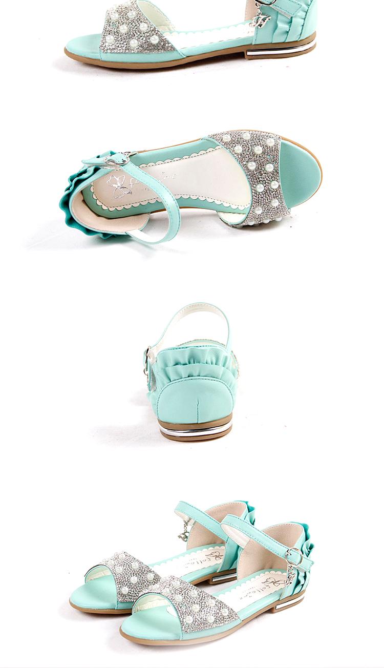 富罗迷 2014新款女童凉鞋公主鞋儿童鞋女大童儿童