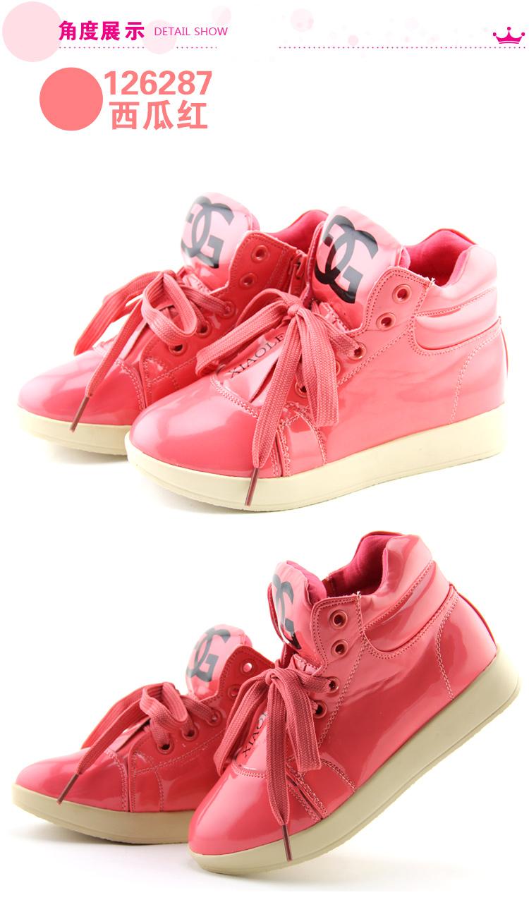 笑蕾童鞋专柜正品新款韩版女童高帮真皮皮鞋休闲公主