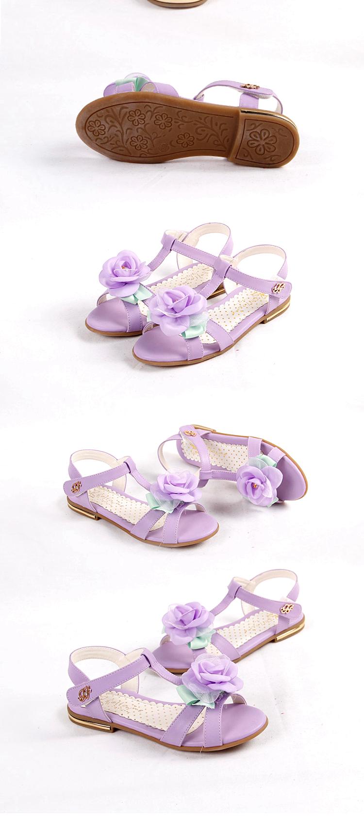 富罗迷 女童鞋儿童凉鞋2014夏季新款女童魔术贴公主4