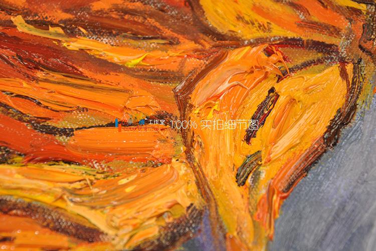 梵高 两朵 剪下的向日葵 纯手绘油画 后印象派装