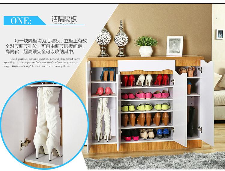 鞋柜 宜家大容量储物 现代 时尚烤漆 玻璃玄关 隔