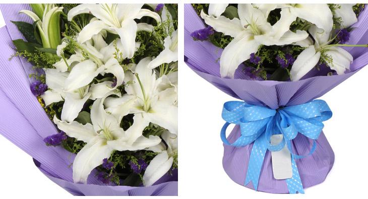 思递鲜花速递 百合花 鲜花 香水百合花 生日礼物送鲜花免费配送618图片