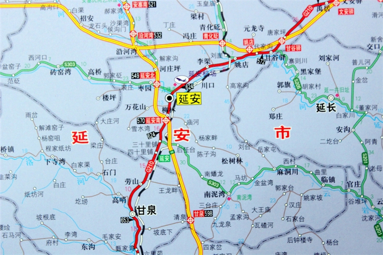 陕西省地图挂图 陕西省政区图