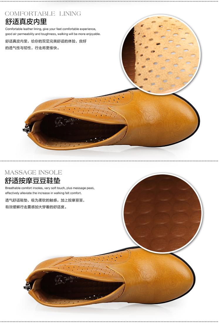 3515强人女鞋2014年春季新款平底单鞋女时尚网靴欧美