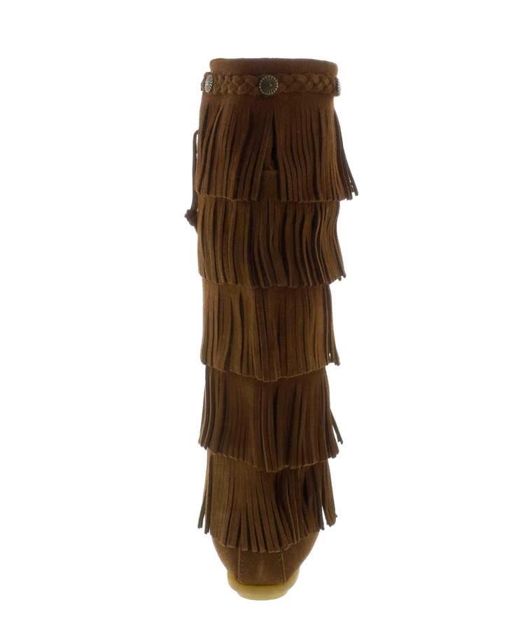 时尚流苏高筒靴 1658深棕色