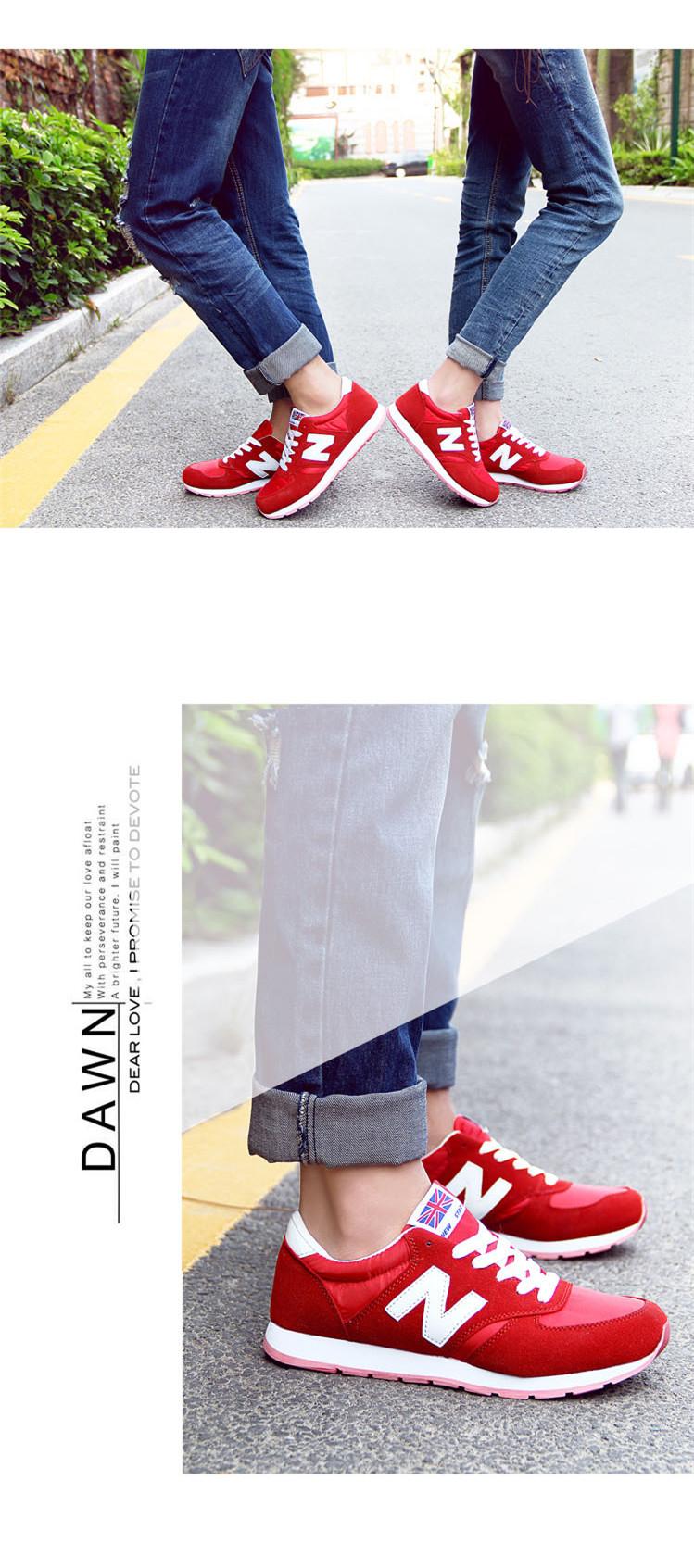 韩国n字鞋女 韩版运动鞋