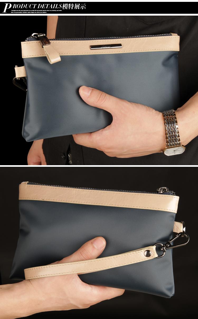 新款男式防水尼龙布手包