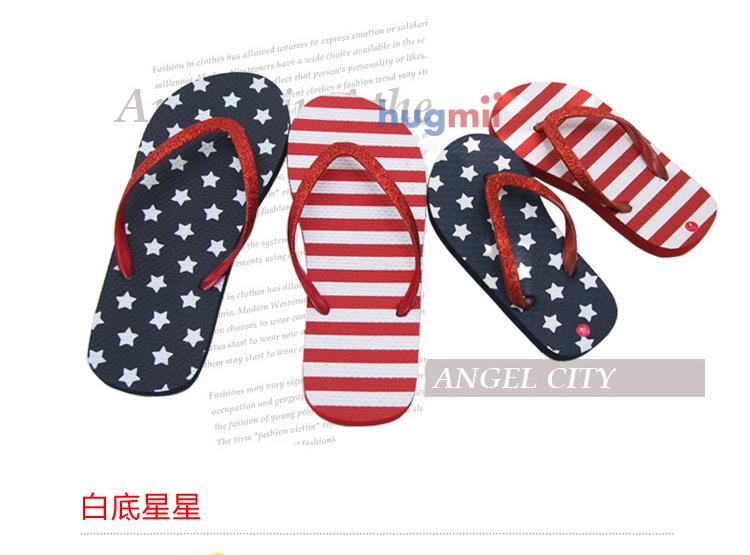 hugmii沙滩鞋 爆款儿童爸爸妈妈可爱亲子款夹脚凉鞋