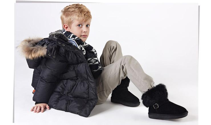 儿童雪地靴女童棉鞋