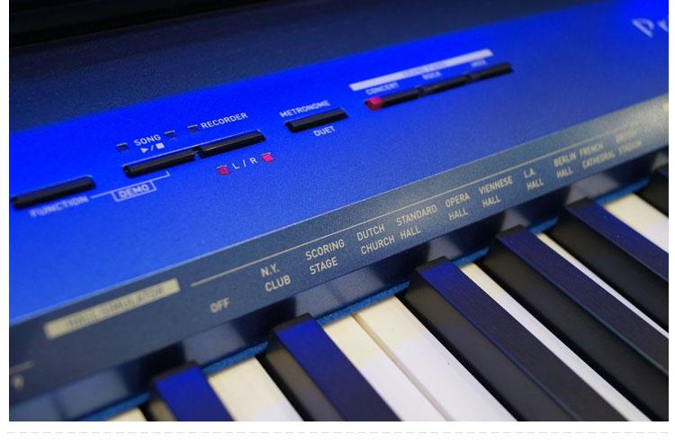 卡西欧 PX-A100 蓝色特写