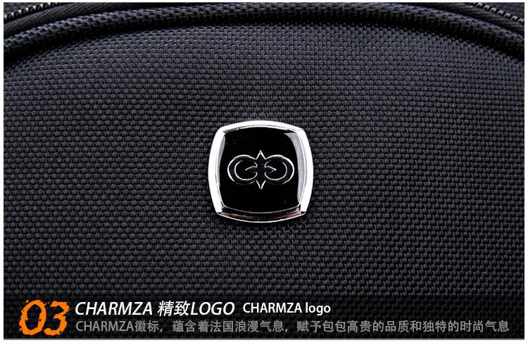 charmza新品男士商务双肩电脑包背包14寸cz-9419