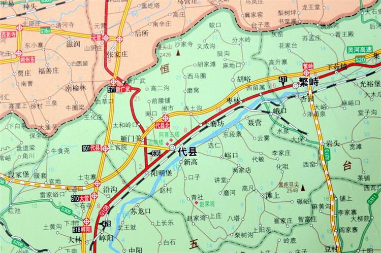 山西省地图挂图 山西省政区图