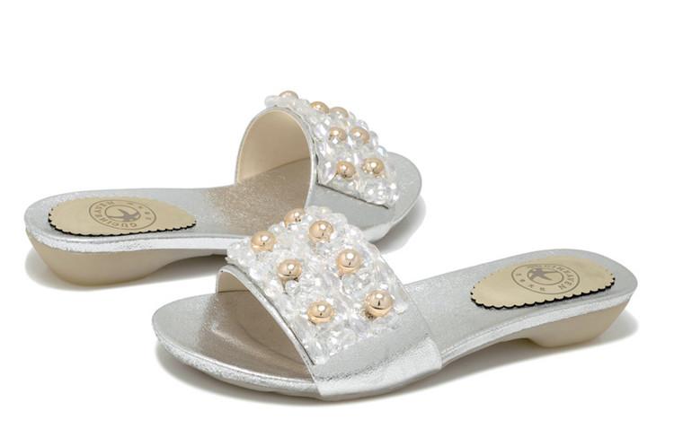 古奇天伦 水晶钻女鞋 低帮女拖鞋