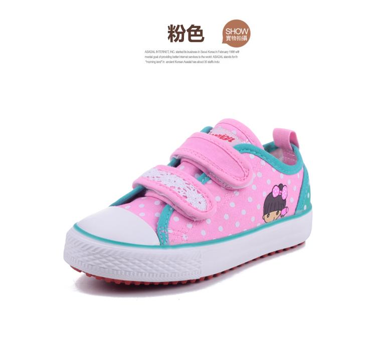 回力童鞋女童鞋运动鞋公主鞋淑女碎花帆布鞋单鞋