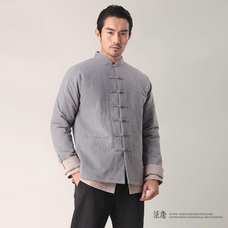 【】柒唐中国风棉衣 原创男士冬装外套