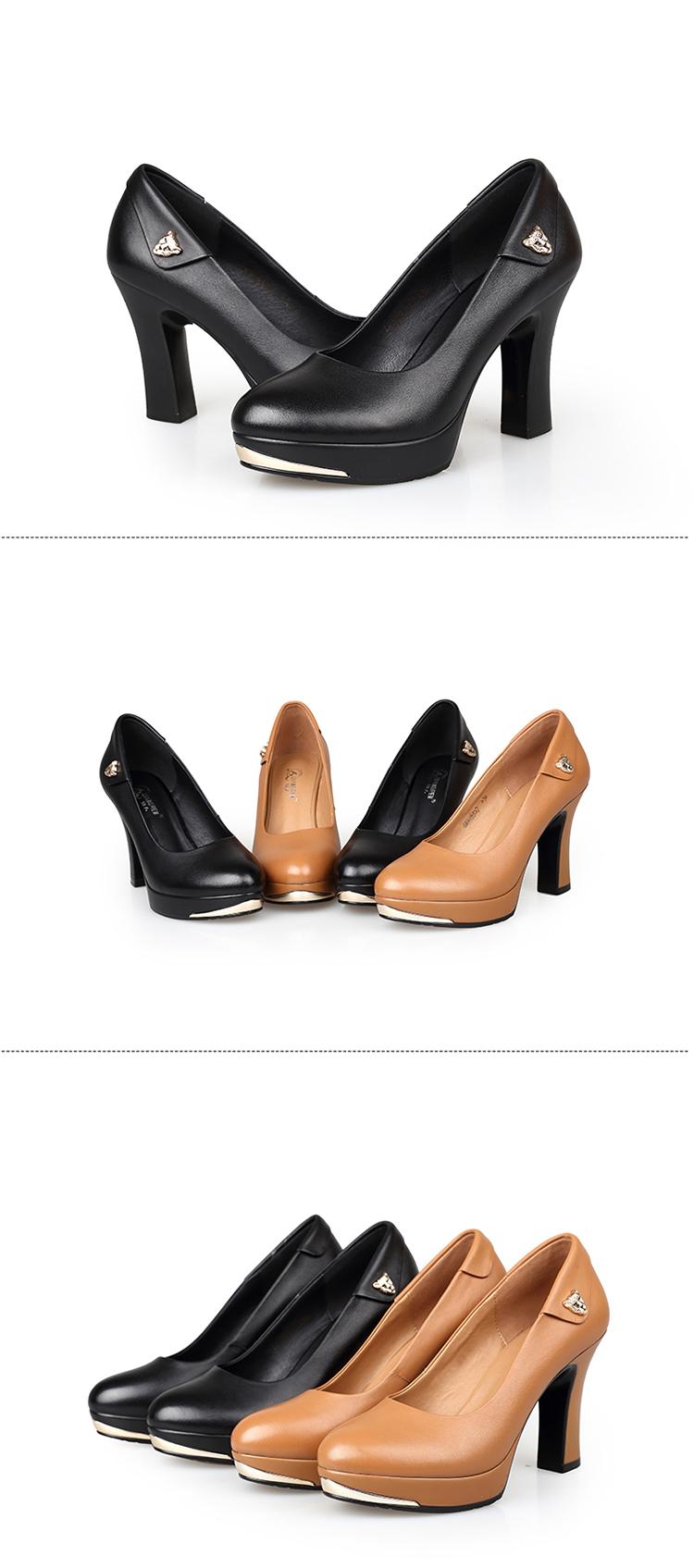 3515强人女鞋2014年春季新款女单写真皮女高跟鞋欧美