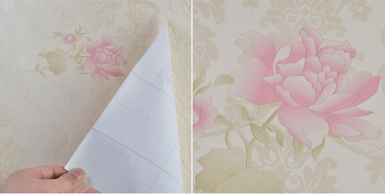 壁纸直接贴diy田园风格儿童卧室客厅背景贴欧式小花