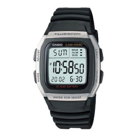 casio卡西欧男士手表运动电子男表w-96h-1a