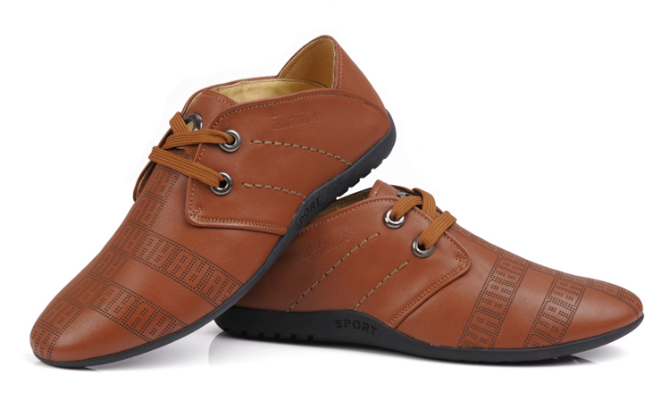 优质牛皮防滑商务休闲男鞋