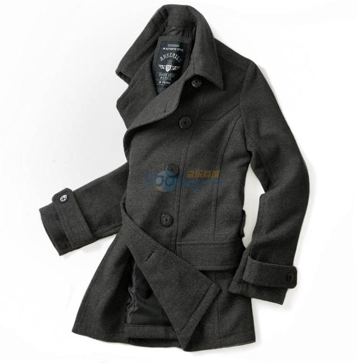 男装秋冬新品 海军呢中长款大衣A210001图片