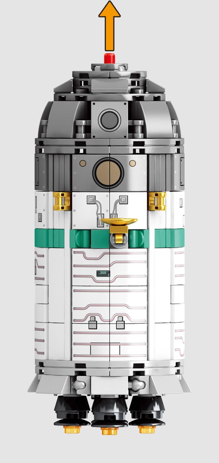 森宝(SEMBO)积木 航天系列出舱飞船203302
