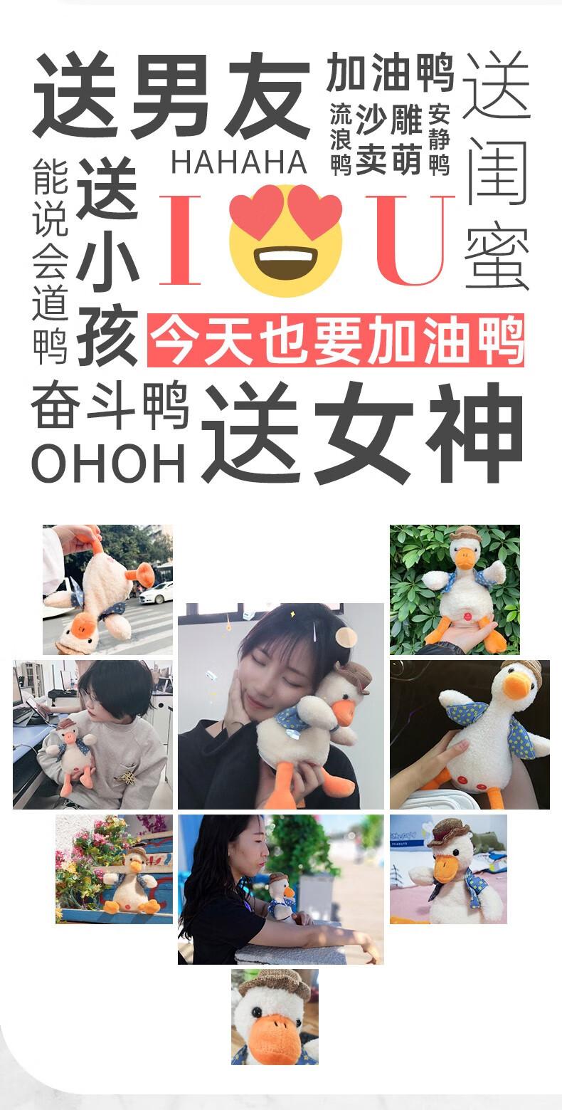 复读鸭沙网红雕充电玩偶,送女朋友创意生日礼物
