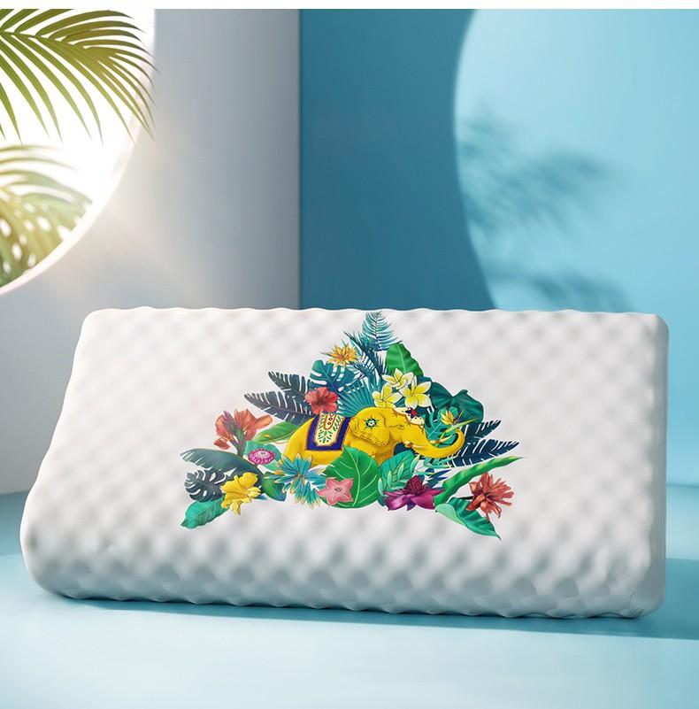 小神价 泰国原装进口 泰嗨 天然乳胶枕头 60*40*10/8cm 图13