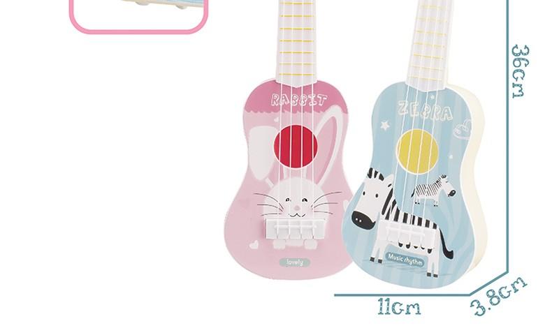 儿童尤克里里玩具卡通小动物初学者小吉他可弹奏迷你仿真乐器 中号36cm长颈鹿