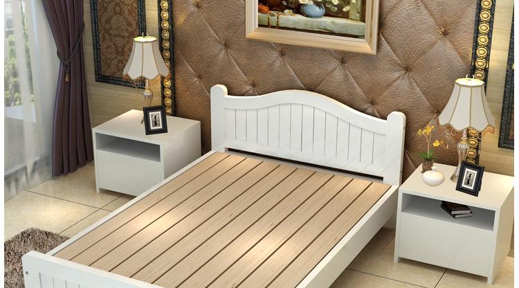 靖缘雅居儿童床实木松木单人床