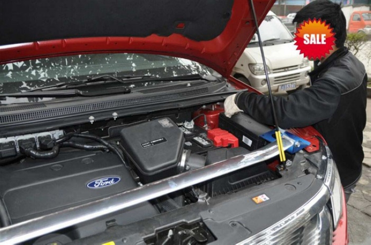 ftcr 一汽奔腾b50 b70前平衡杆专用顶吧 发动机舱前拉杆改装 车身强化