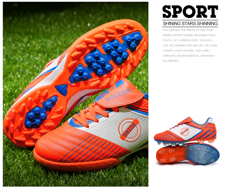 韩哥儿童足球鞋大小童足球训练鞋室内外儿童成人足球