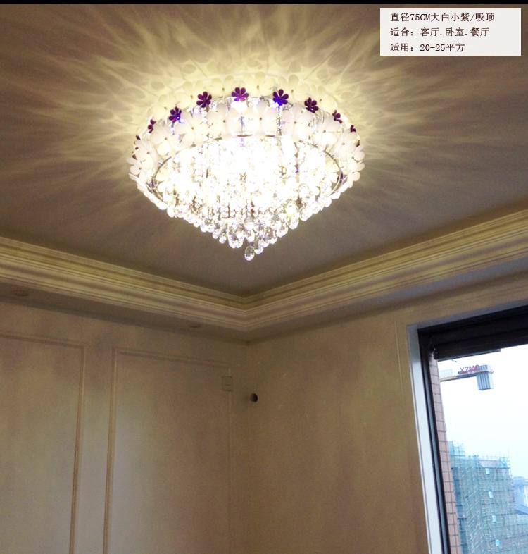 欧星漫亚克力花瓣灯卧室水晶灯餐厅吊顶led客厅灯吸