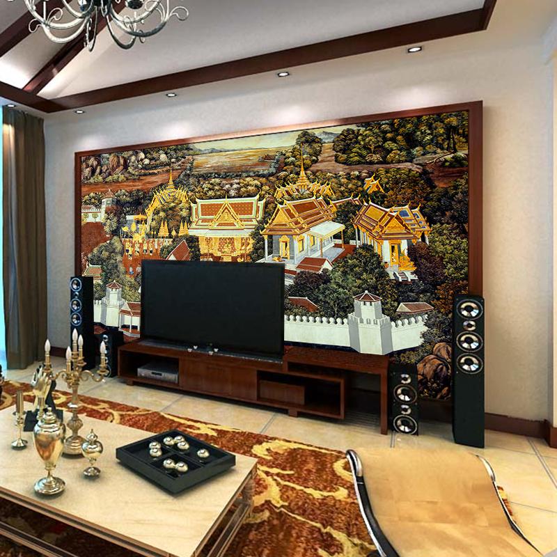 墙地面材料壁纸臻心家居(zhenxinhome)臻心家居大型壁东南亚墙面装修进津证图片