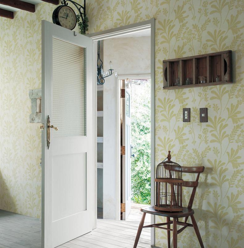 墙田园墙纸材料丽彩衣柜地面日本lilycolor丽彩lv-6275进口a田园做壁纸底防潮图片