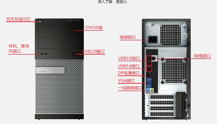 戴尔OptiPlex3020系列微机箱塔式(CAD005Ocad尺寸怎么缩小界面才能图片