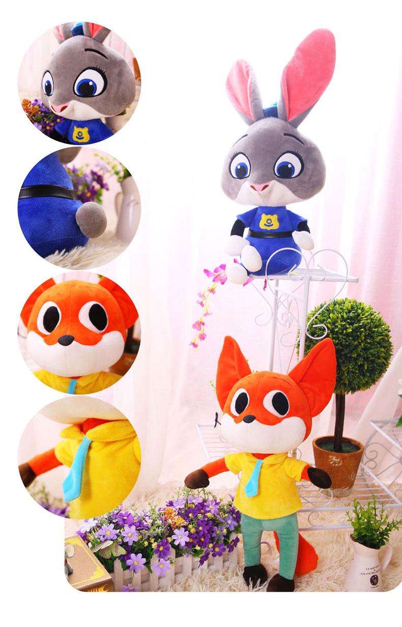 毛绒玩具a猴子猴子城公仔狐狸尼克坐垫朱迪抱枕鼻梁动漫周边动物狐男的兔子子上有玩偶图片