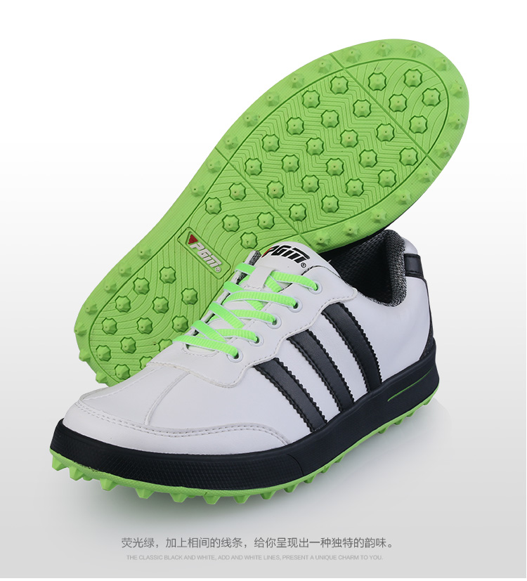 pgm golf shoes casual shoes waterproof green lazada