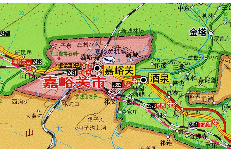 旅游/地图 分省/区域/城市地图 甘肃省+兰州地图挂图 1.4*1.