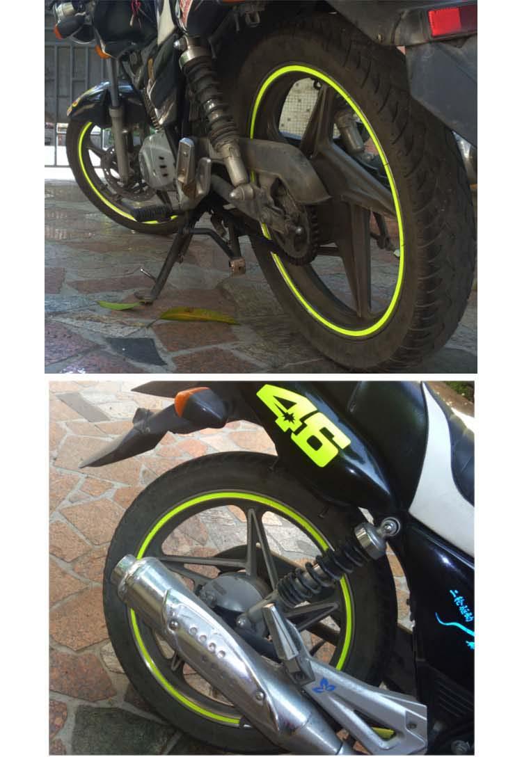 沃达迈 摩托车轮毂贴钢圈贴车轮贴踏板车贴纸10寸12电动车贴花雅马哈图片