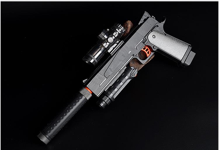 宜佳达仿真科尔特手枪电动连发水弹枪可发射子弹6岁以上儿童玩具枪软