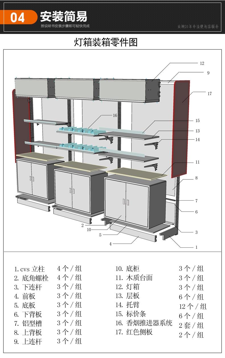 一体式烟酒柜结构