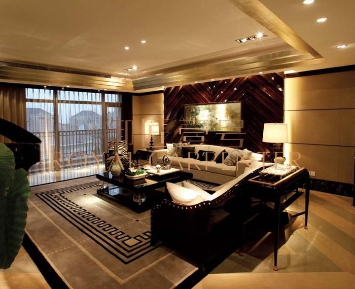 御匠壹号 后现代 客厅玄关桌 黑檀钢琴漆实木玄关桌 沙发背几