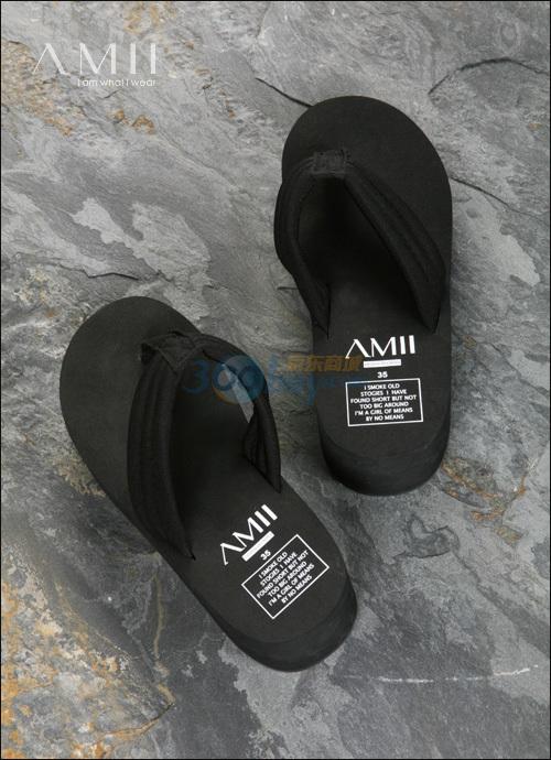艾米(amii)amii厚底人字拖鞋