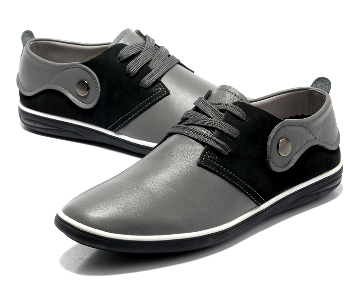 时尚英伦单层软牛皮男鞋