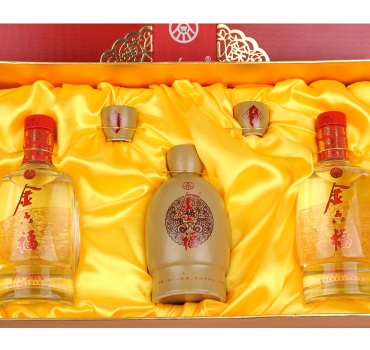 52°金六福年年有余礼盒 500ml*2瓶 + 38°金六福年年有余礼盒500ml*2瓶