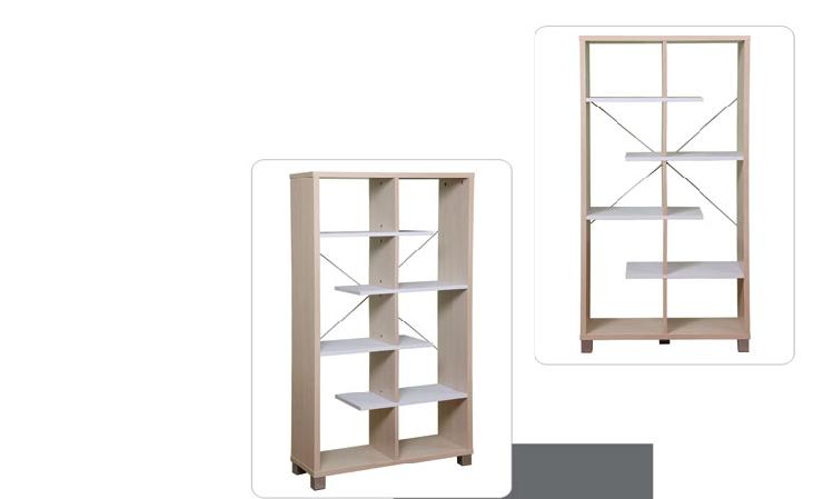 拉储物 书架 隔断书柜 书柜 书架子 储物架 板式家具WS CX020 胡桃色